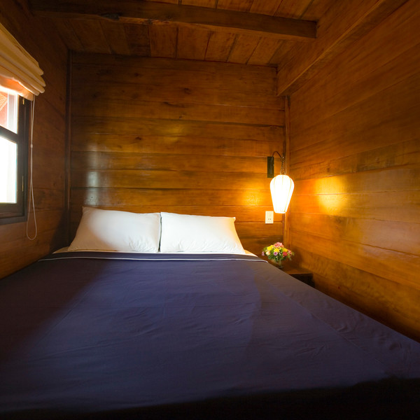 Double-bedded cabin along Cai Be -- Can Tho