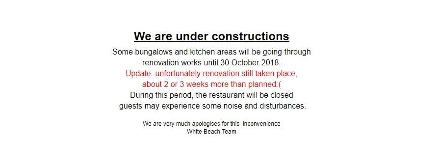 We are under constructions until 30 Nov